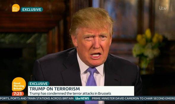 Donald Trump talking on Good Morning Britain