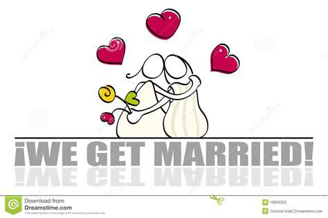 Funny lesbian wedding card stock vector. Image of