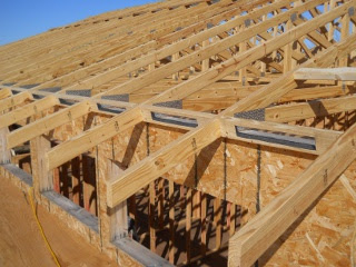 House Roof Vented Blocks Installed Diagonal View