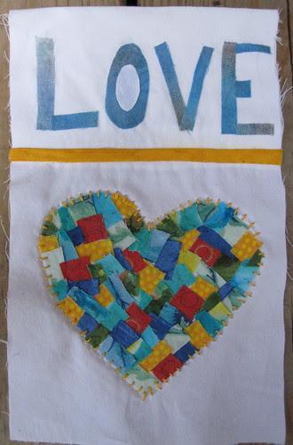 LOVE w/heart prayer flag (for Joyce)