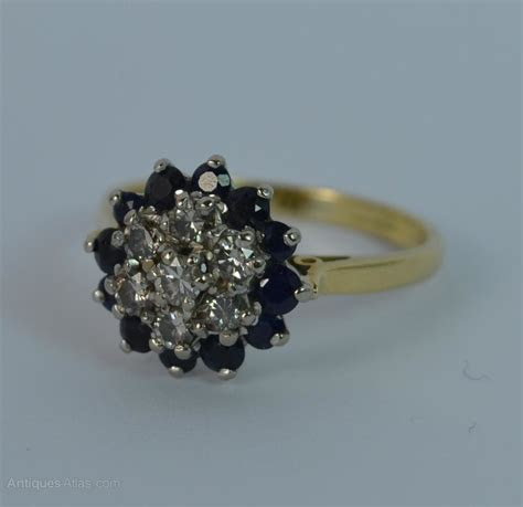 Antiques Atlas   Deco 18 Carat Gold Diamond & Sapphire