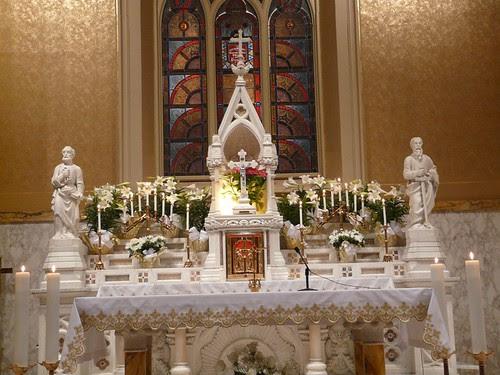 Easter Altar Lit