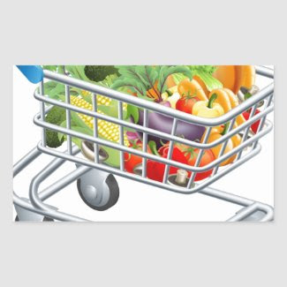 Vegetable trolley stickers