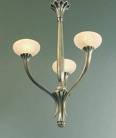 Restored Art Deco And Art Nouveau Chandeliers For Sale