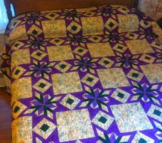 Essence of Mardi Gras Quilt by CarolynsQuiltsGalore on Etsy, $450.00
