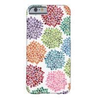 Rainbow Watercolor Dahlia Flowers iPhone 6 case