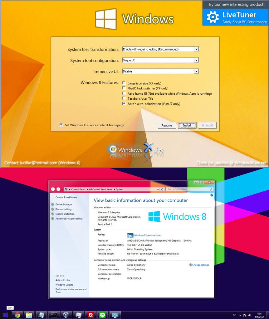 Windows 8 Transformation Pack 9.0