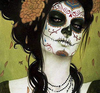 digital, face, illustration, make up - inspiring picture on Favim.com