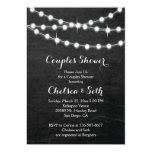 String of Lights Chalkboard Background 5x7 Paper Invitation Card