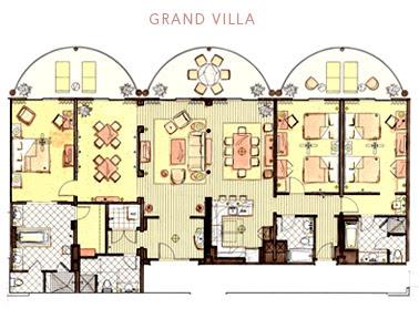 Disney Animal Kingdom 2 Bedroom Villa Floor Plan