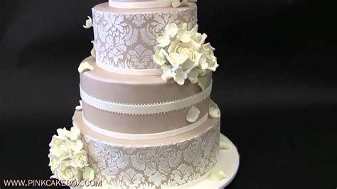 Hydrangea and White Rose Wedding Cake   YouTube