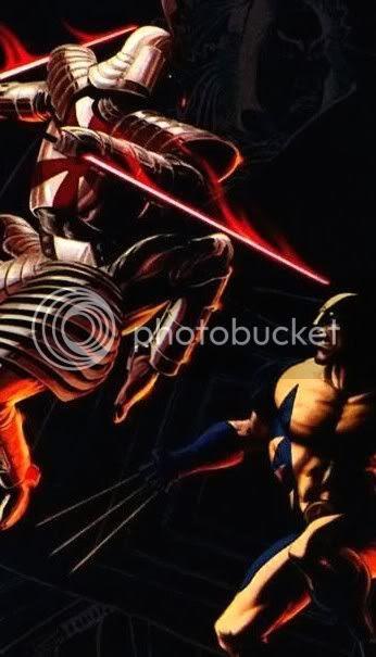 Samurai de Prata vs Wolverine