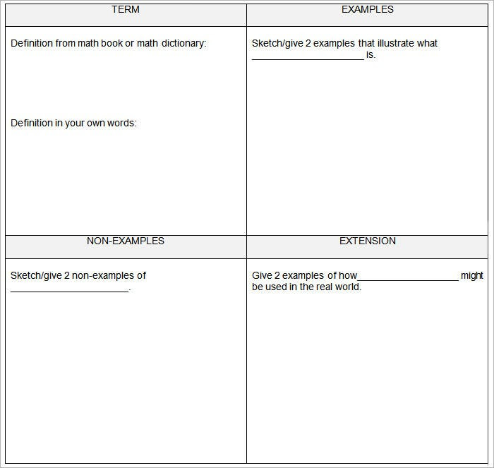 5 Frayer Model Templates - Free Sample, Example, Format | Free ...