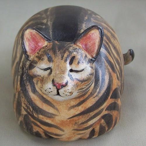 Ceramic Cat Rattle / Sculpture