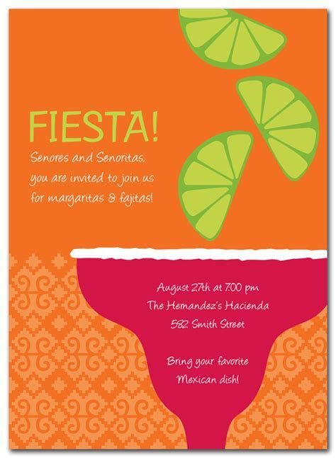 Margarita   Party Invitations by Invitation Consultants