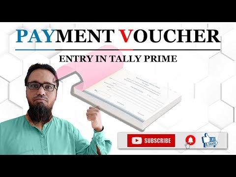 Payment Voucher Entry in Tally Prime   टेली प्राइम में पेमेंट वाउचर एंट्री कैसे करें