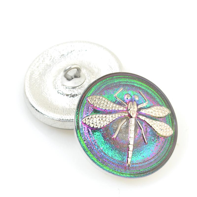 s31131 Button - .75 inch Embossed Dragonfly - Event Horizon (1)