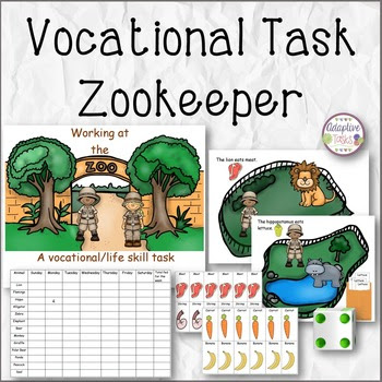 Working at the Zoo- Life Skill/Vocational Task