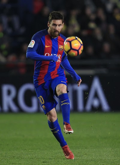 Messi em Villarreal x Barcelona (Foto: AP)