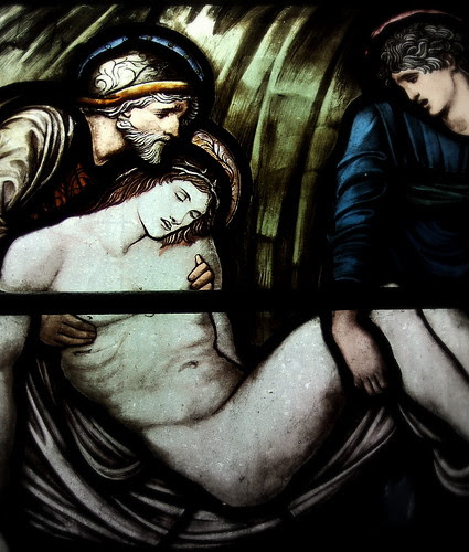 """Detail of """"The Entombment"""""""