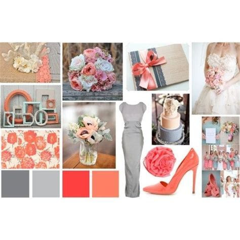 Grey and Coral Wedding   Grey and Coral wedding color