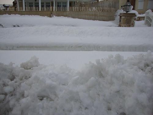 plowed path  in Sea Girt, NJ 2/13/2010