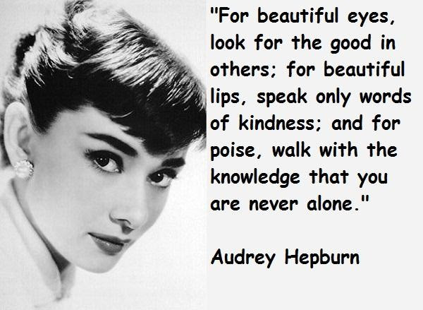 Quotes About Audrey Hepburn 94 Quotes