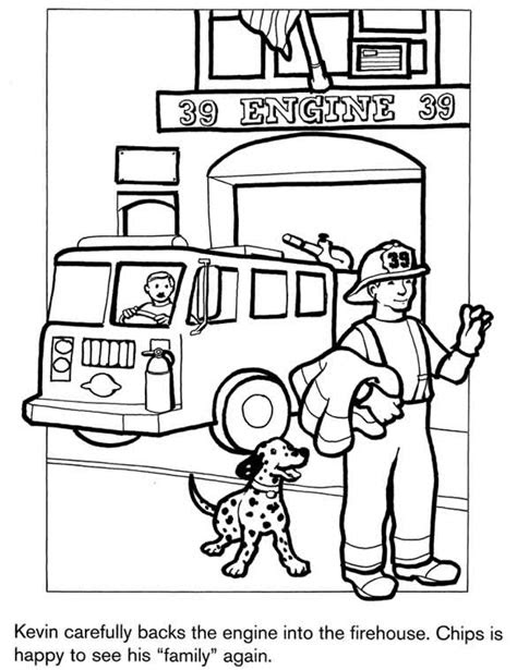 firefighter coloring page | Firetruck coloring page