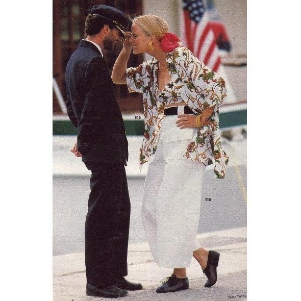 VINTAGE 80s Sewing Pattern Burda moden Blouse cut shirt Bustier White pants Size 14 / M 16 / L Bust 36 Spring/Summer Comfortable Original