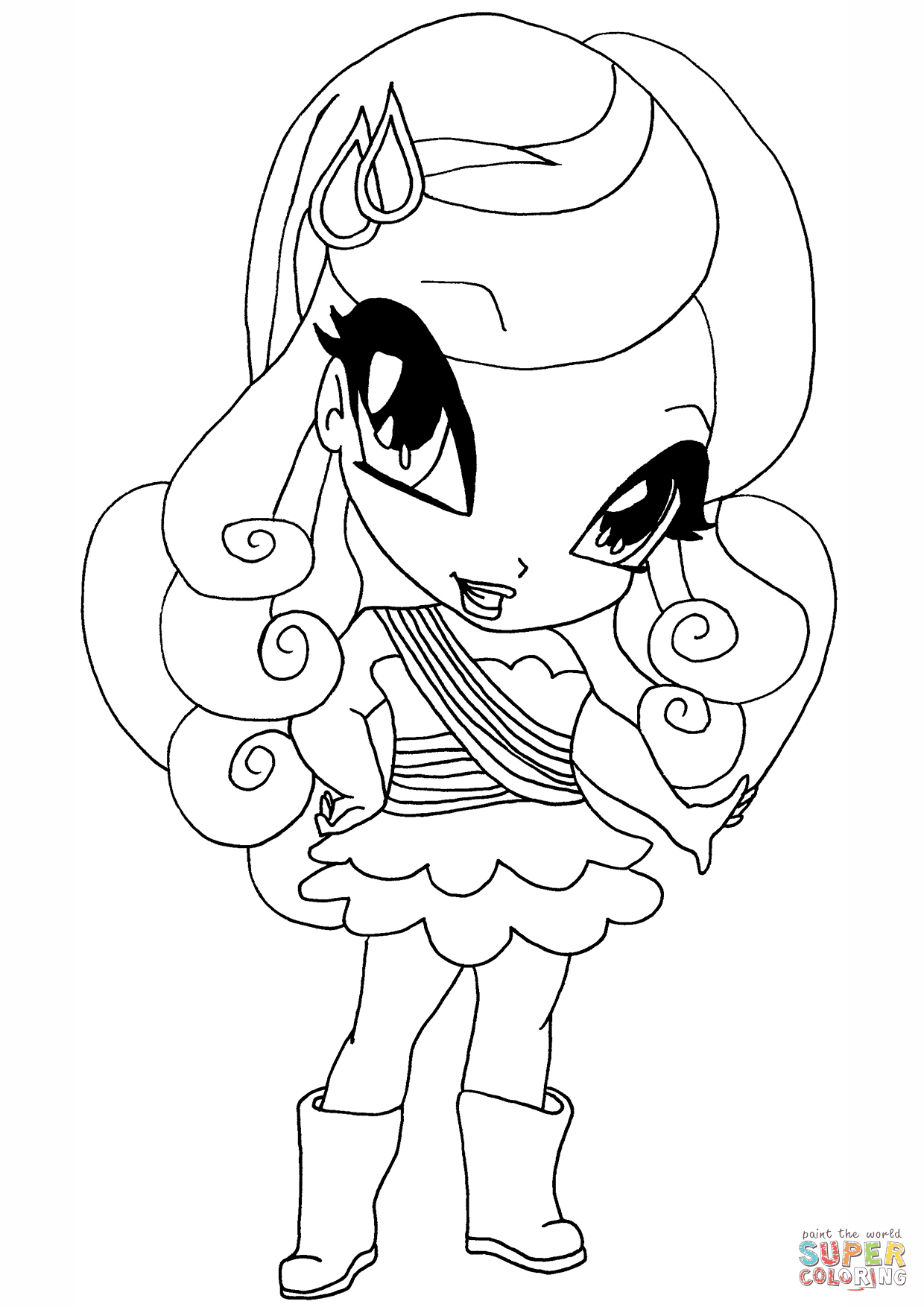 winx club cherie coloring page