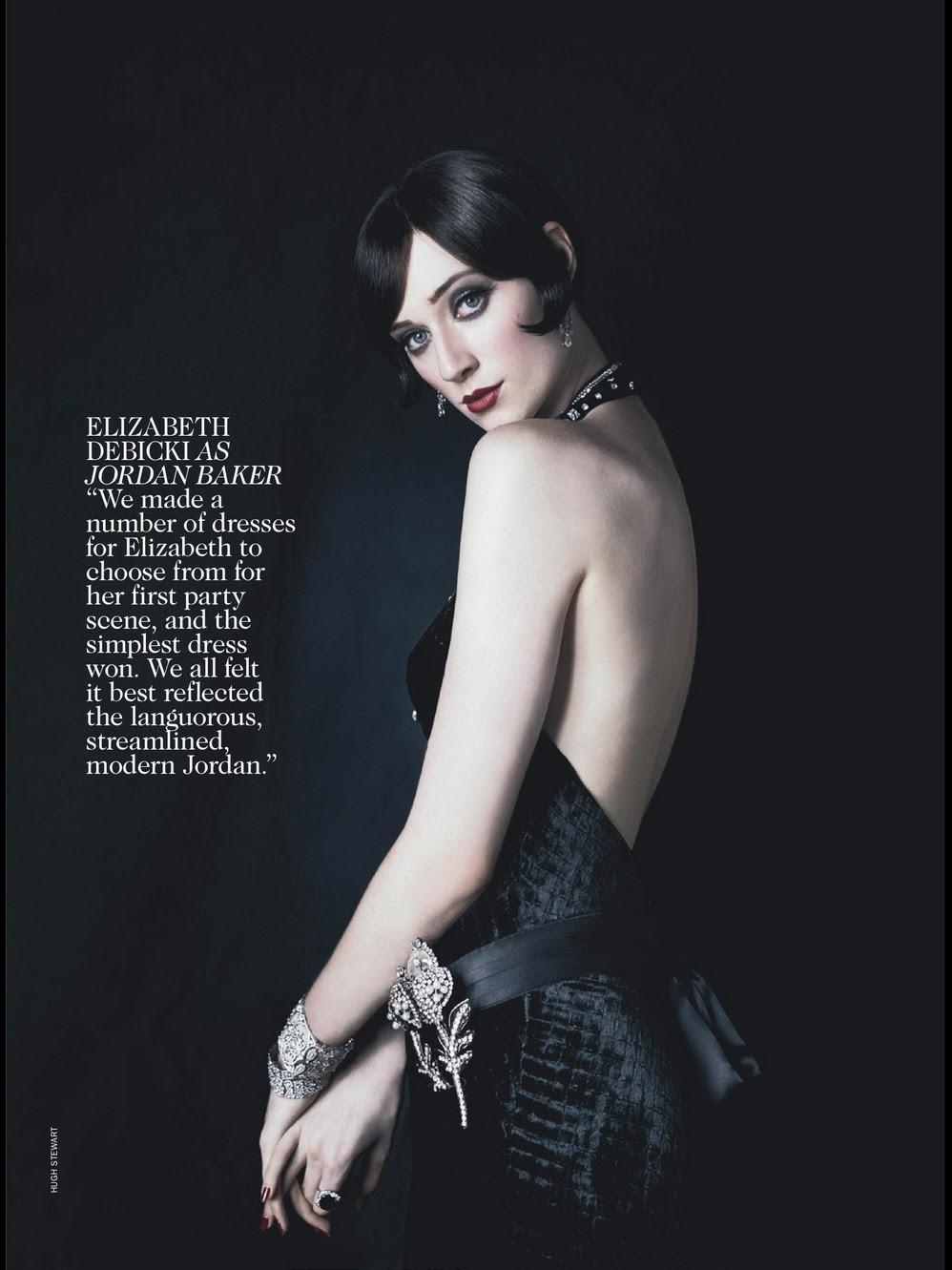Elizabeth Debicki as Jordan Baker photographed by Hugh Stewart