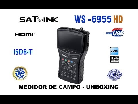Satlink WS6955 - unboxing ( INÉDITO ) - 15/09/2016