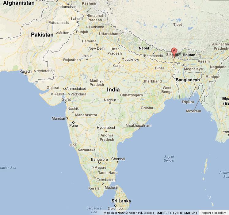 Darjeeling on Map of India