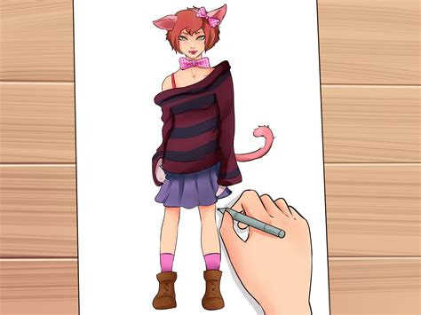 draw cat girls  steps  pictures wikihow