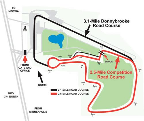 BIR 2.5 Mile Course Layout