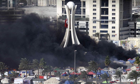 protest crushed in pearl square Manama