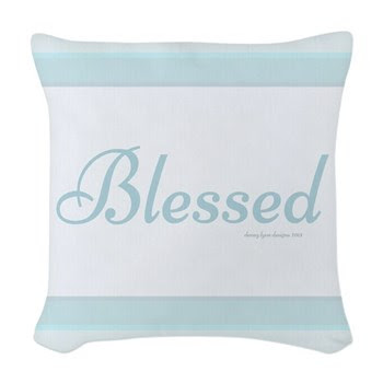 Blessed Saying Woven Throw Pillow