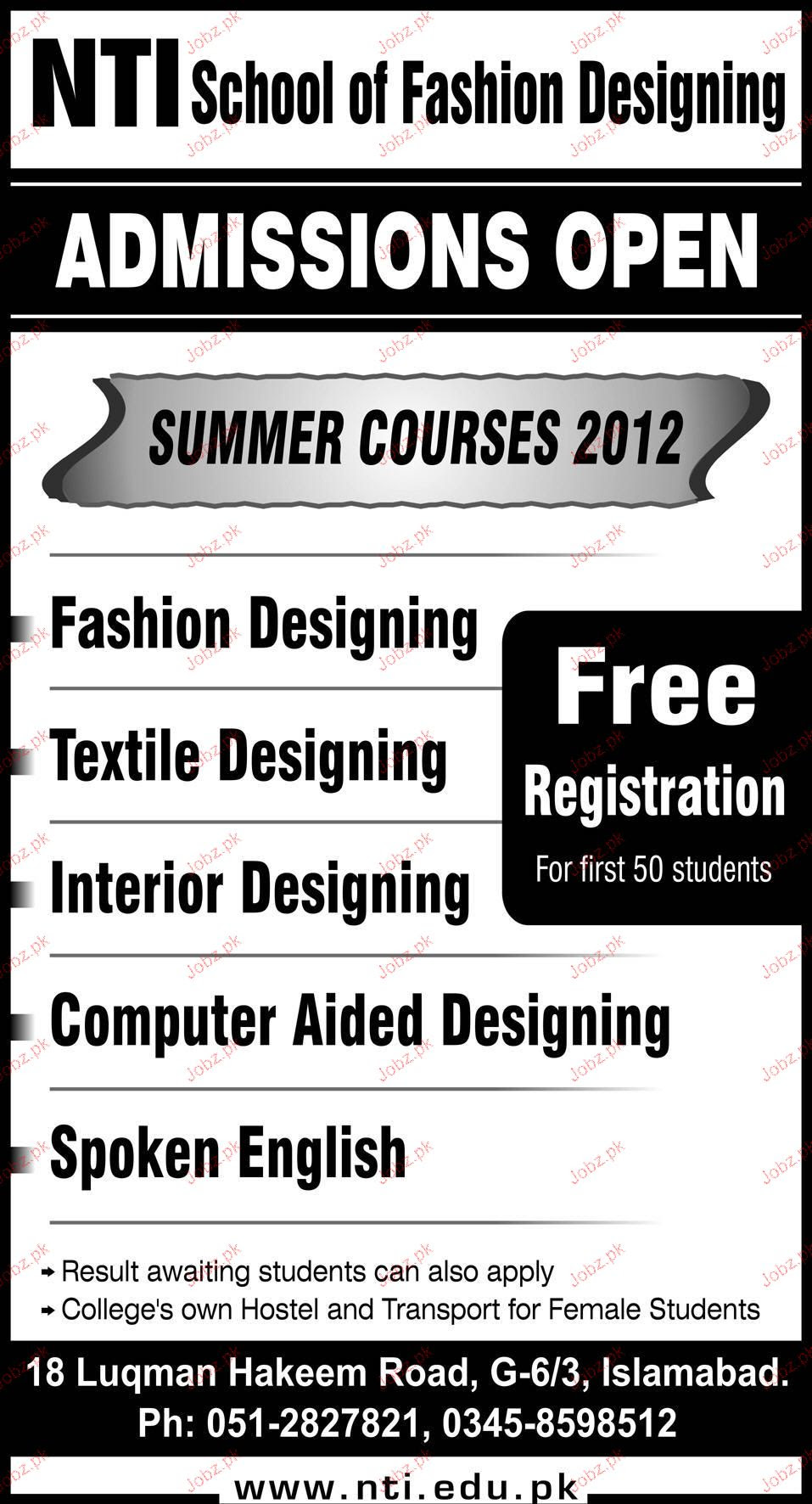 Nti School Of Fashion Design Islamabad School Style