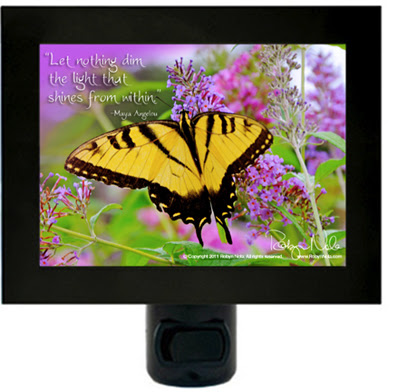 The Light From Within Butterfly Inspirational Quote Night Light