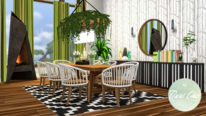 Oasis Chic Dining Outdoor Set at Simsational Designs ...