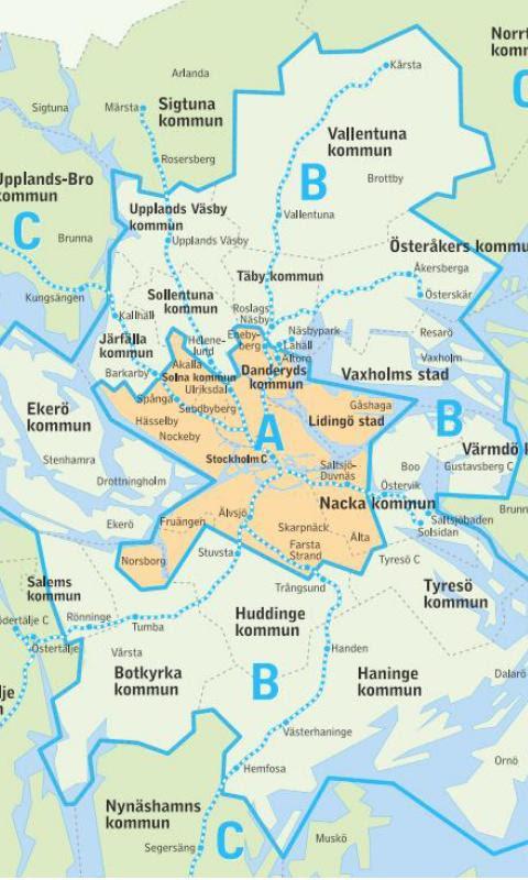 Sl Karta Stockholm Uppsala.Sl Zon Karta Karta