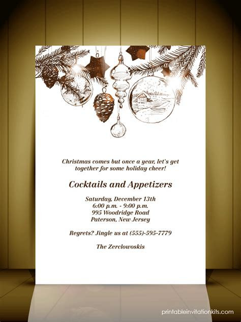 Vintage Style Christmas Party Invitation Card ? Wedding