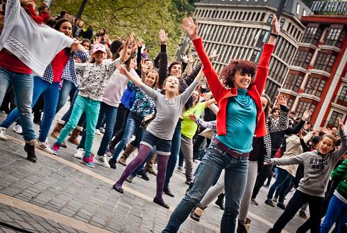 Flashmob el día internacional de la danza en Bilbao 2012 III