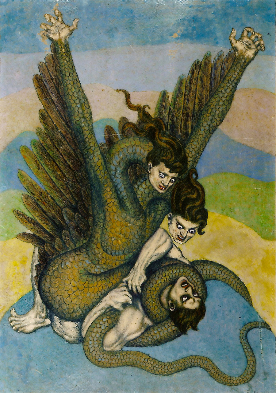 Boleslaw Biegas - The Vampire In The Form Of The Dragon, 1917