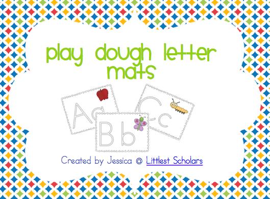 Playdough Letter Mats [Freebie!] - Littlest Scholars