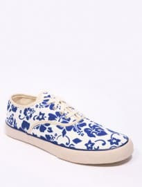 Ymc Navy Floral Printed Shoes