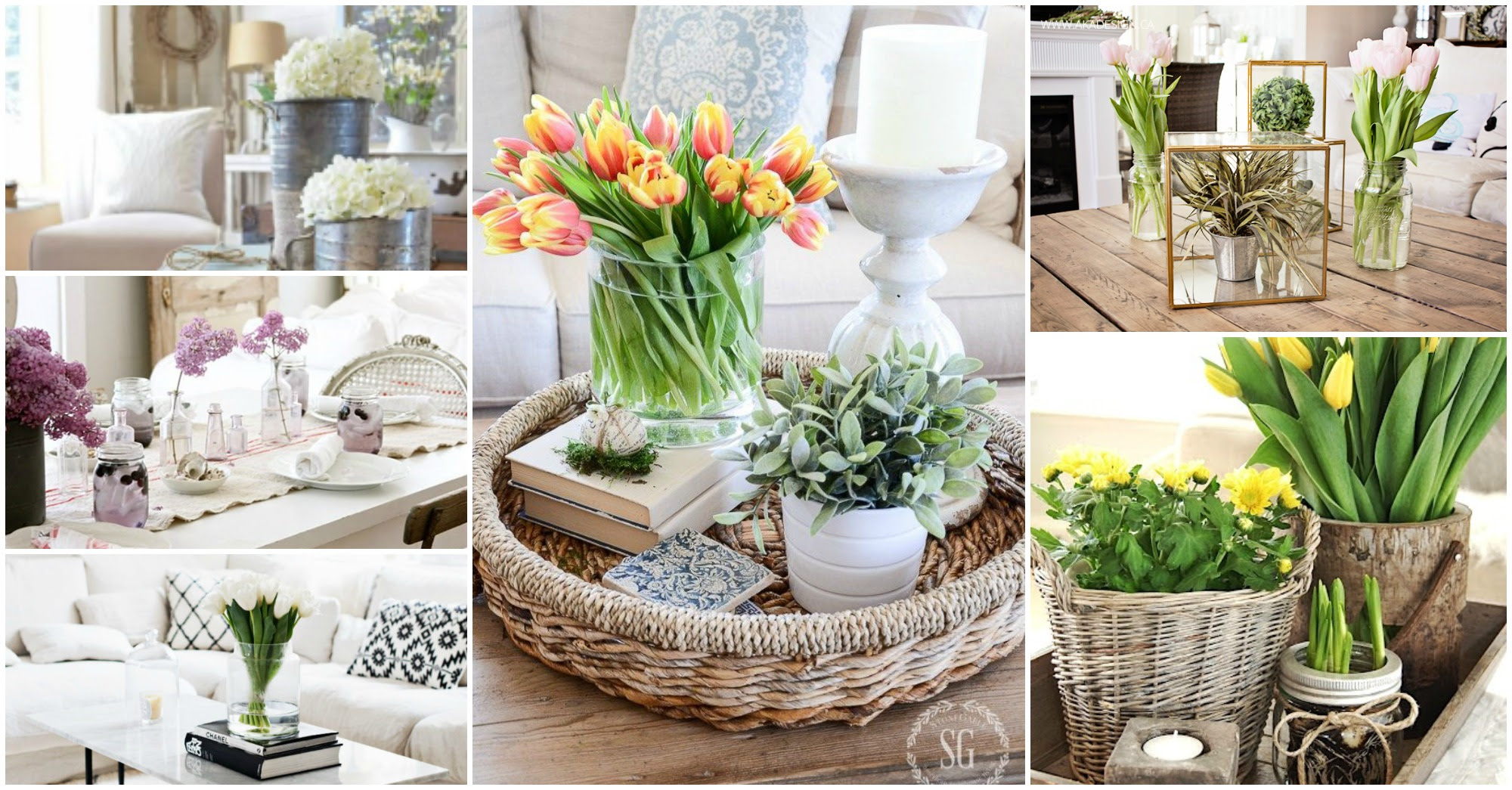 spring coffee table decorations