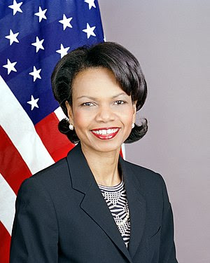 An official portrait of Condoleezza Rice. Cont...