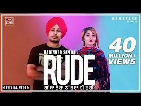 Rude   Gussa Tera   Aakda ne kha layi mai   Harinder Samra   Dreamboy   new punjabi song 2019