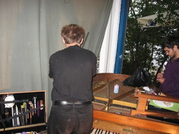 and preparing the piano with Phil
